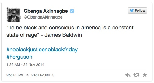 james baldwin #ferguson twitter