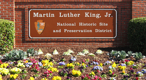 martin luther king jr national park site