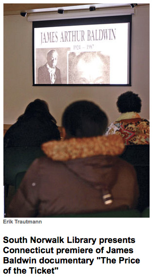 photo attendees at south norwalk public library premiere of james baldwin: the price of the ticket