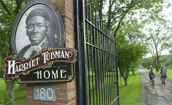 harriet tubman home front gate sign