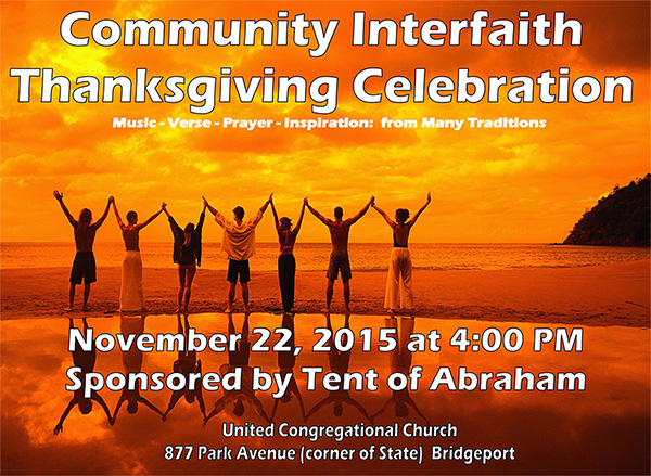 community interfaith thanksgiving celebration